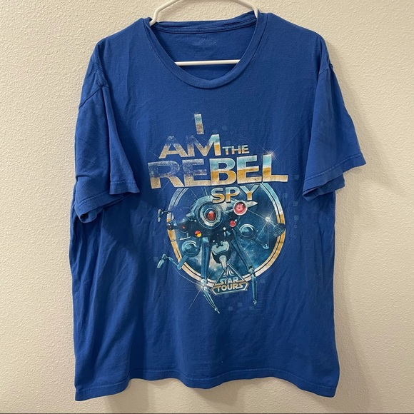 Disney Star Tours I Am The Rebel T-Shirt Blue XL
